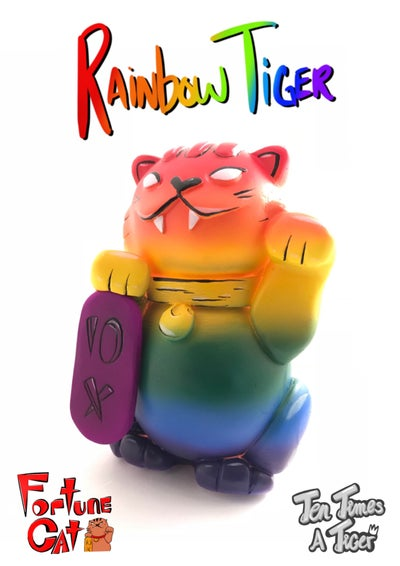 Image of Fortune cat: Rainbow Tiger