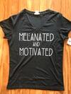 Melanated & Motivated Fitted V-Neck