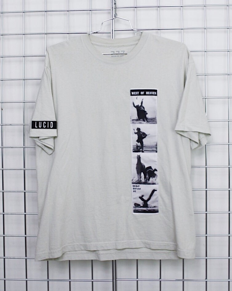 Image of WEST OF HEAVEN TEE [CEMENT]