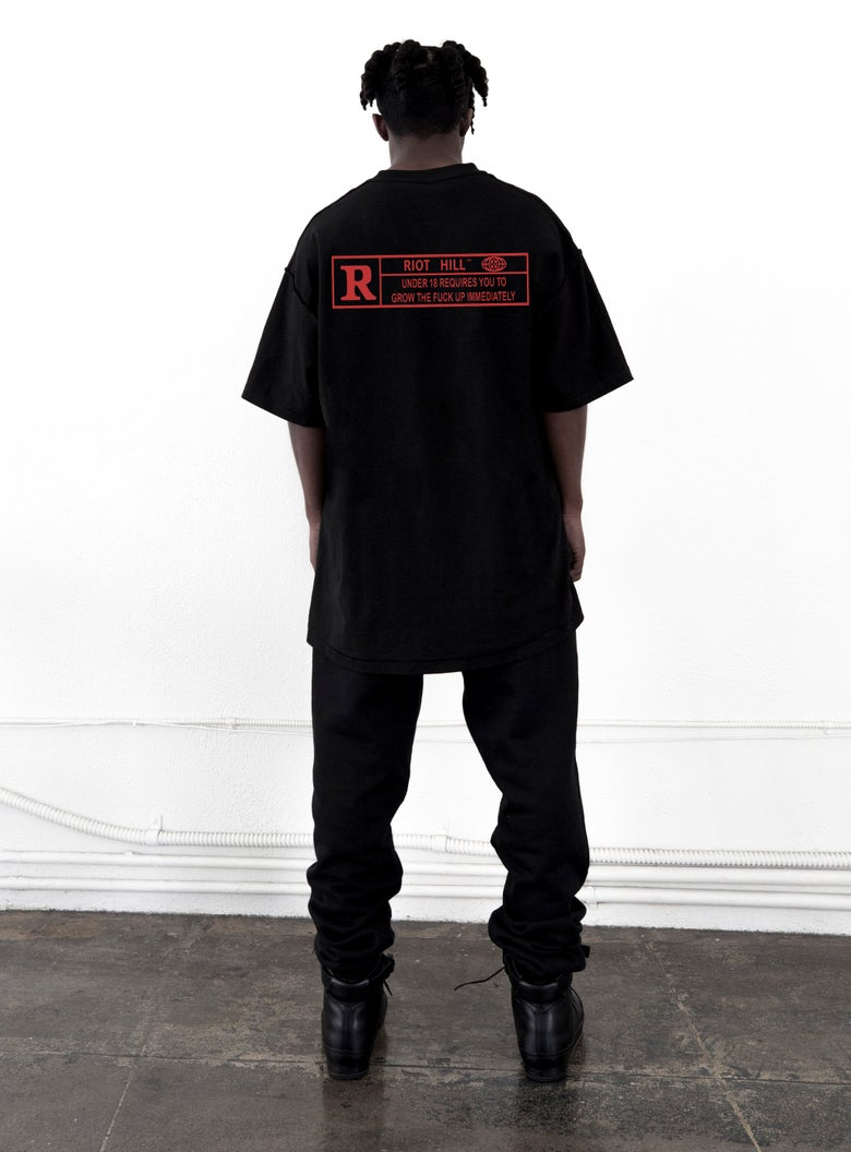 Image of Black Restricted T-Shirt