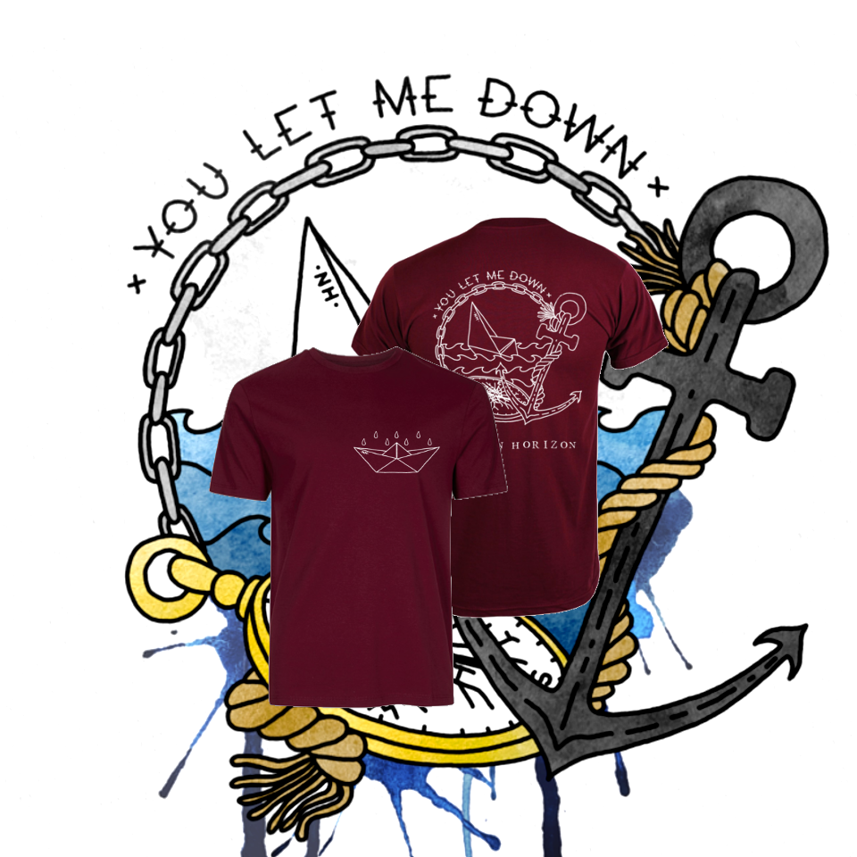 Image of You Let Me Down T-Shirt Burgundy