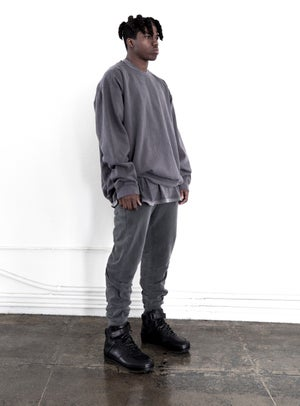 Image of Washed Charcoal Crewneck Sweatshirt
