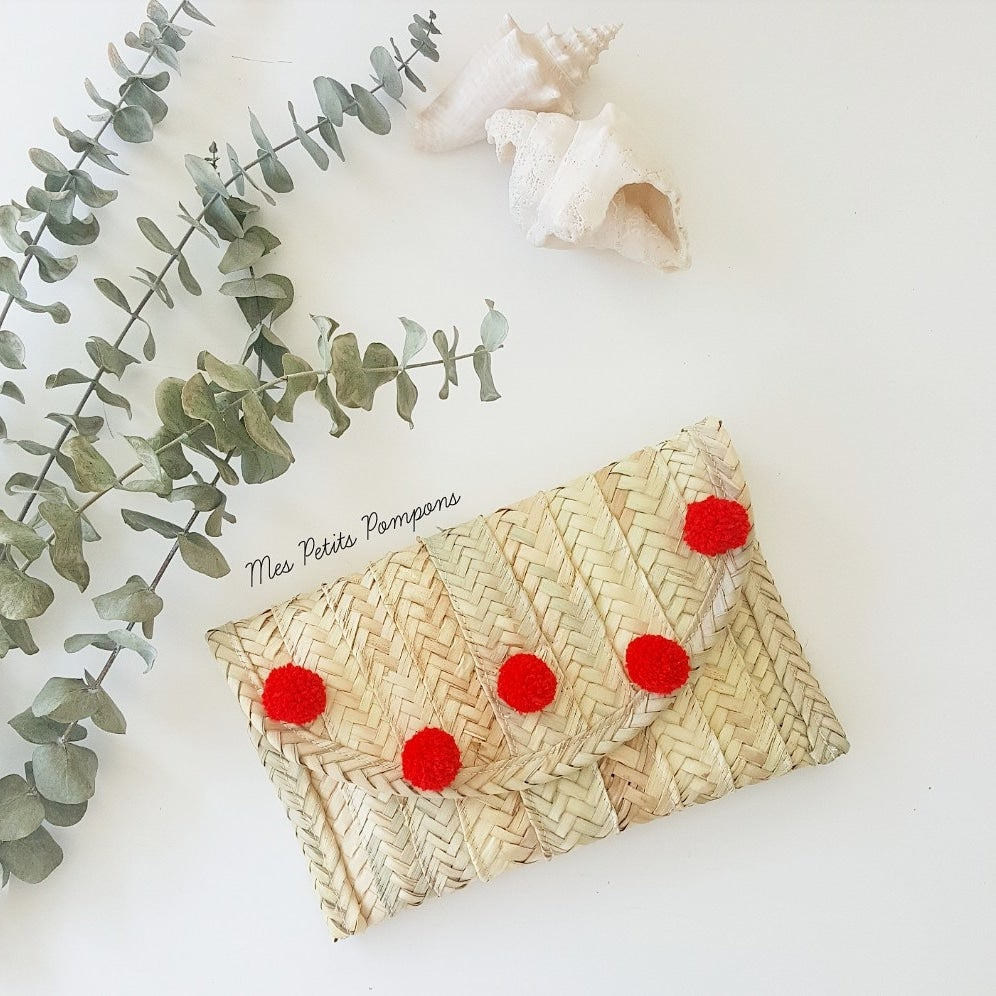 Image of Cartera de palma / Palm Clutch