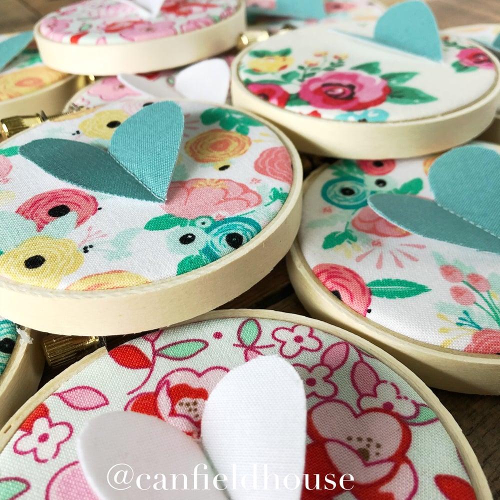 "Image of 3"" Mini Flutter Heart Hoops"