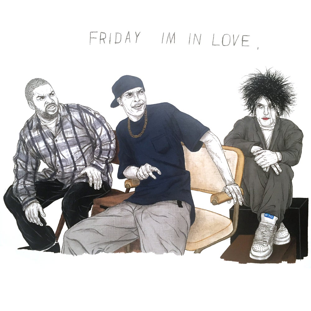 Image of friday im in love print