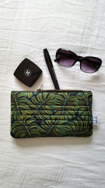 Image of Pochette Black Monstera
