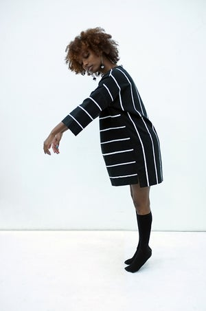Image of PAINTED STRIPE Gemini Tunic - Black