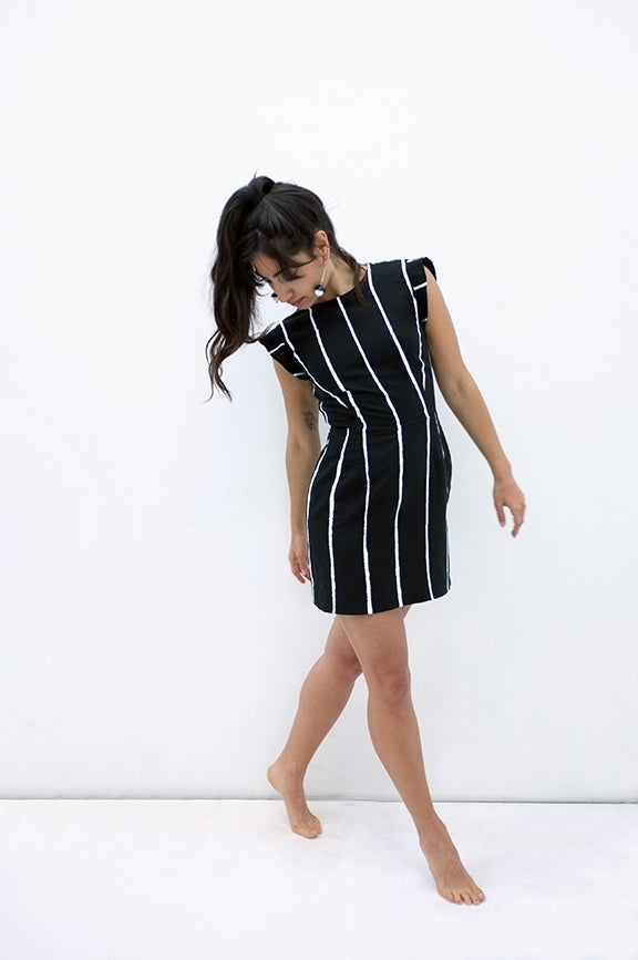 Image of PAINTED STRIPE Mini - Black