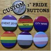 "Image of NEW - Custom 1"" Pride Buttons"