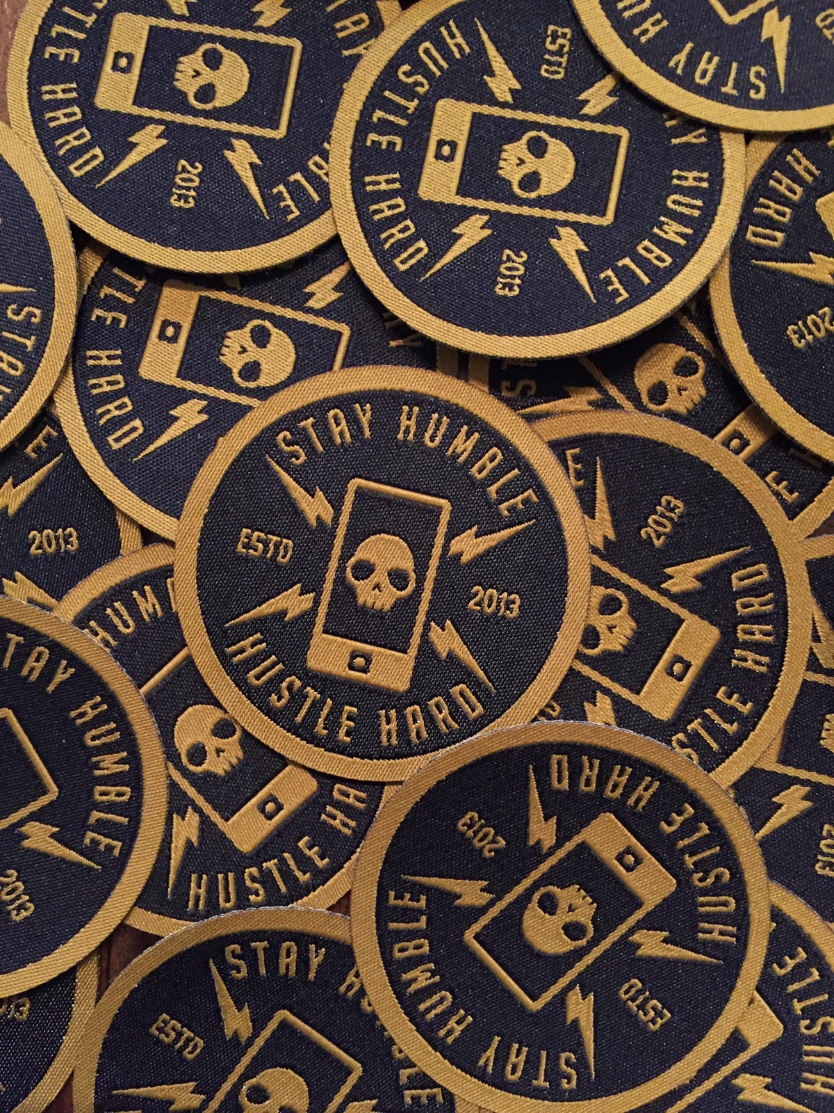 Image of Clutch STAY HUMBLE HUSTLE patches