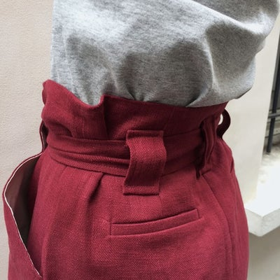 Jupe Emma Bordeaux 175€  -70% - Maison Brunet Paris