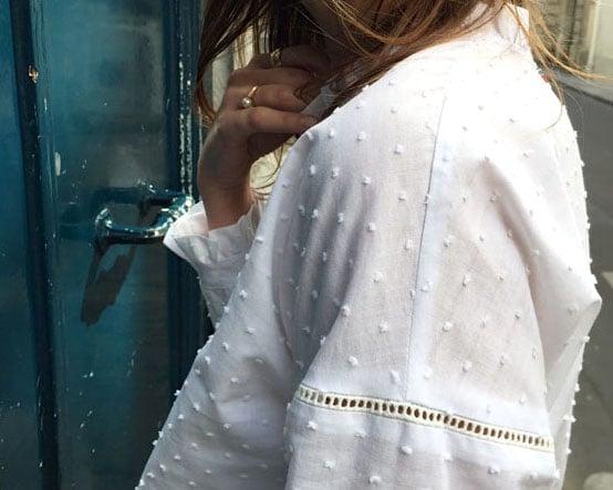 Blouse Claudia Plumetis blanc  - Maison Brunet Paris