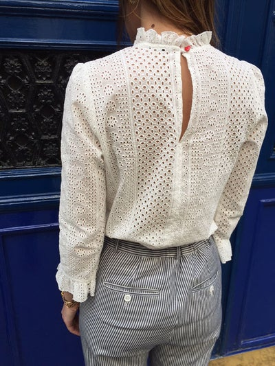 Blouse Esther broderie - Maison Brunet Paris