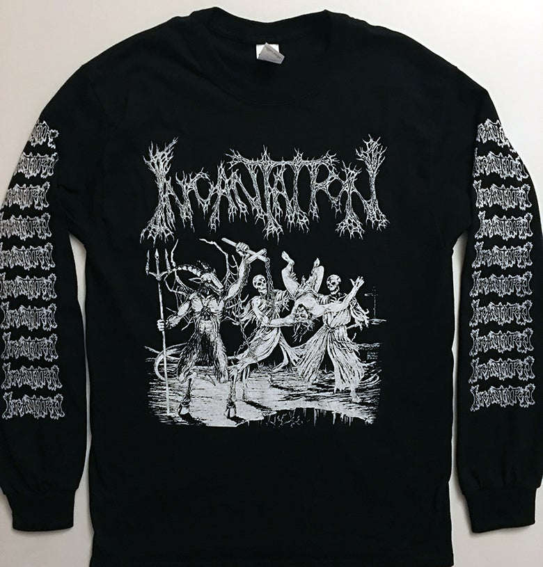 "Image of Incantation "" Blasphemous Cremation "" Long sleeve T shirt"