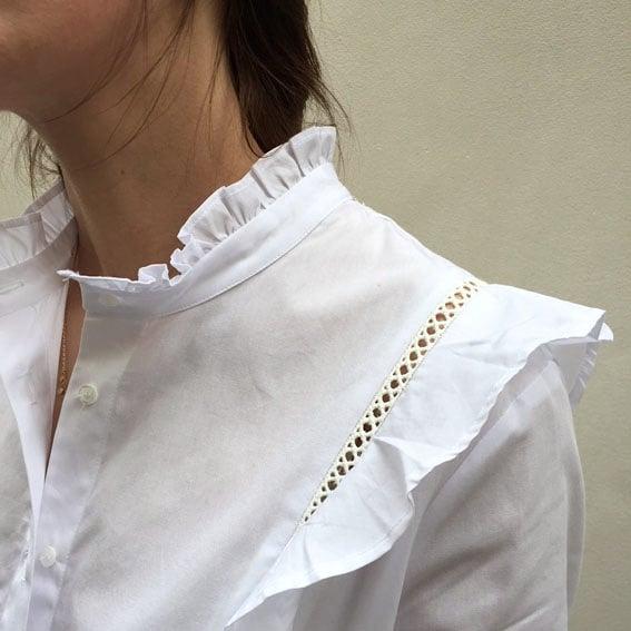 Chemise Vanessa blanche - Maison Brunet Paris