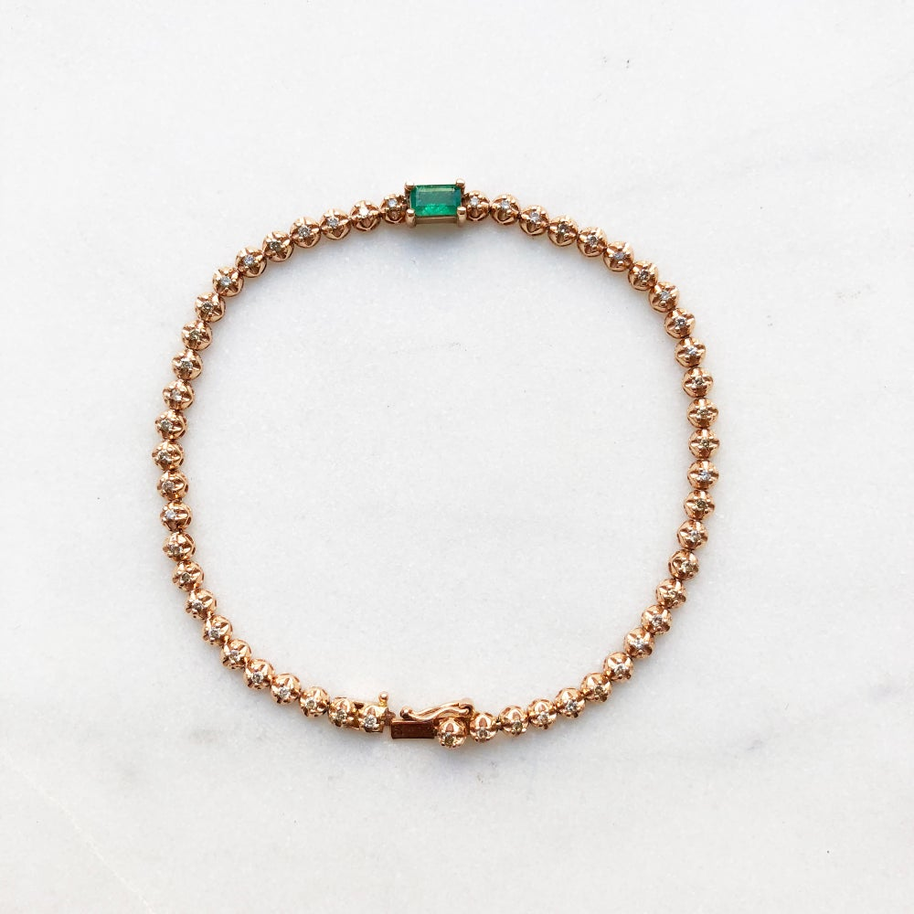 Image of Stardust Emerald Tennis Bracelet