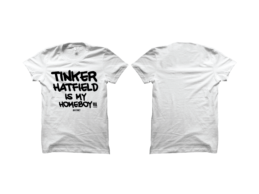 Image of TINKER HATFIELD IS MY HOMEBOY!!! T-SHIRT