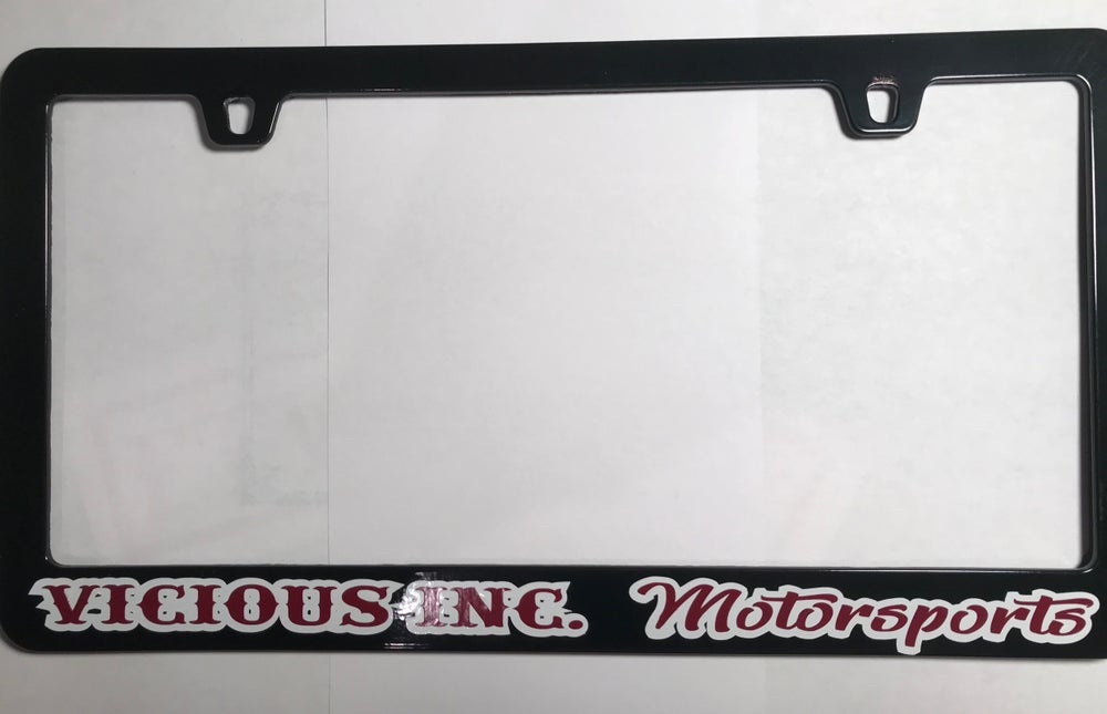 Black License plate frames (metal) | VICIOUS INC.