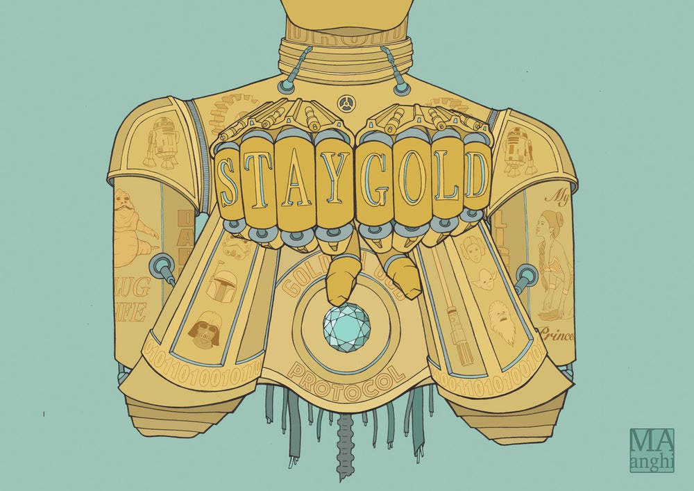 Image of Stay Gold C3P-YO