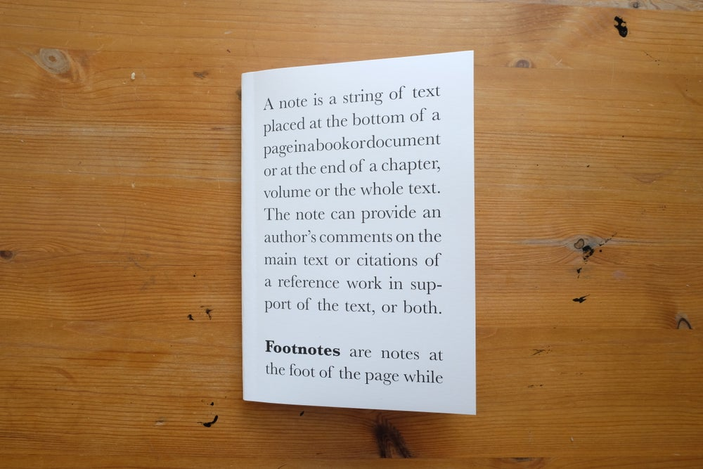 Image of Footnotes