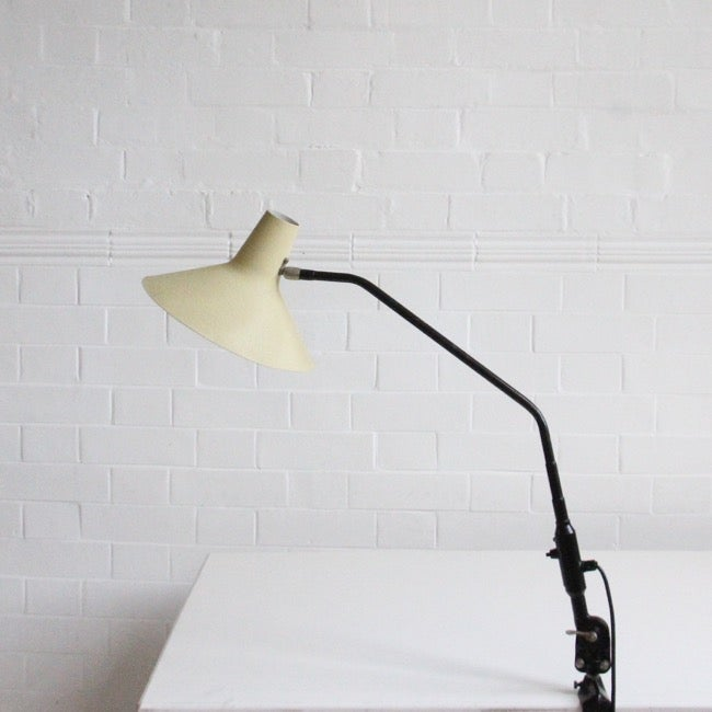 Image of Midcentury Dutch metal clamp light