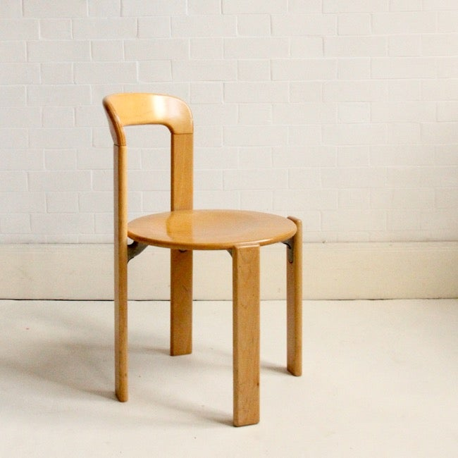 Image of Bruno Rey stacking chair c1970 (set of four)