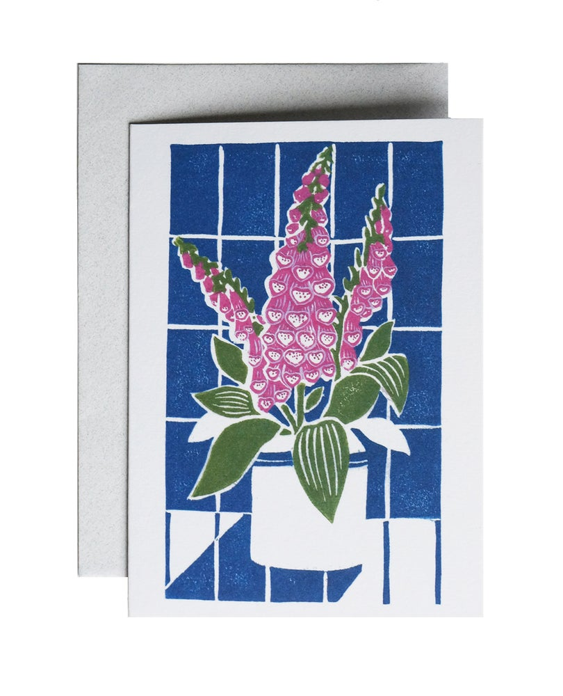 Image of Foxgloves - Greetings Card