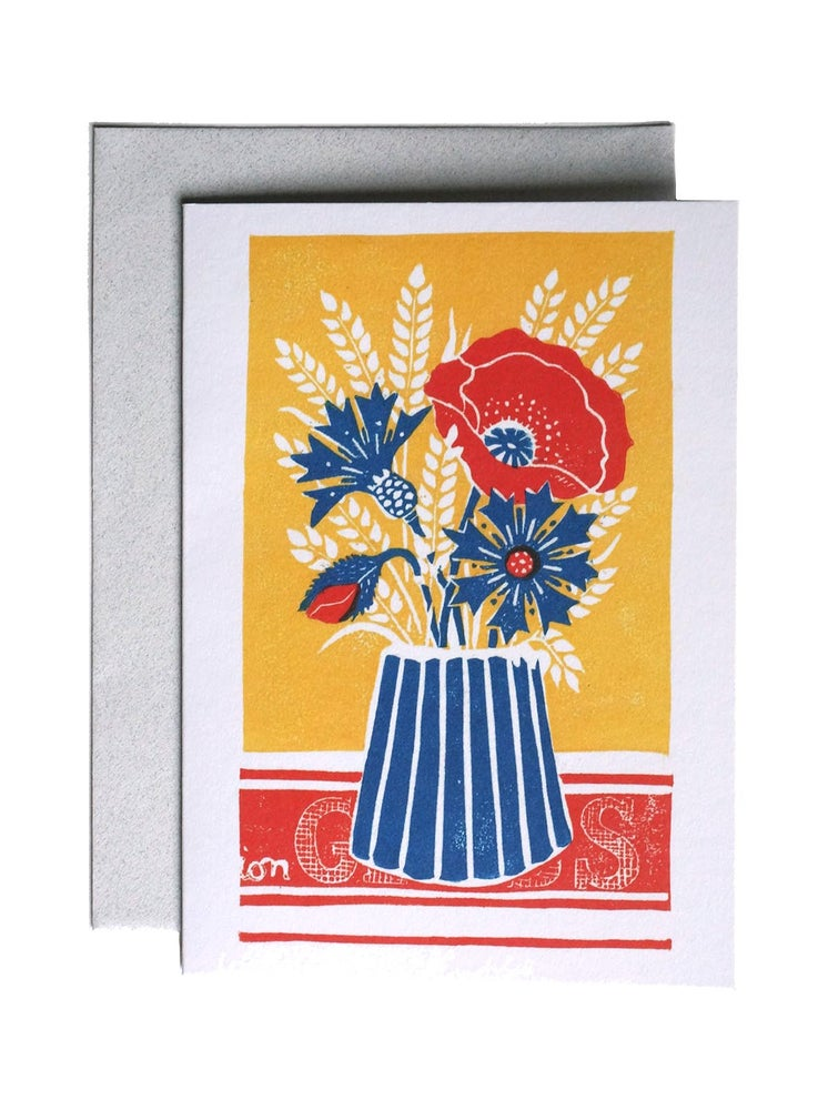 Image of Cornflowers - Greetings Card