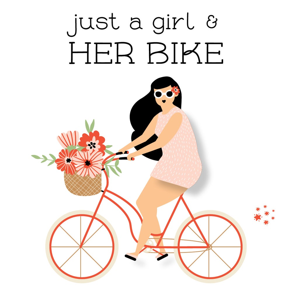 Image of Just a Girl & Her Bike Notecard