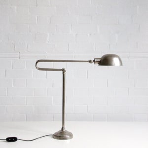 Image of Large chrome lamp.