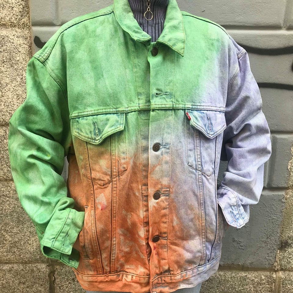 Image of TIE-DYE DENIM JACKET