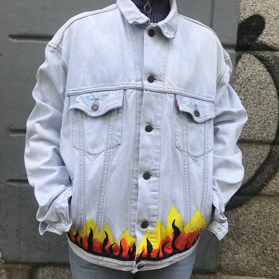 Image of ON FIRE DENIM JACKET