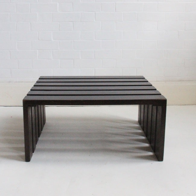 Image of Slatted coffee table
