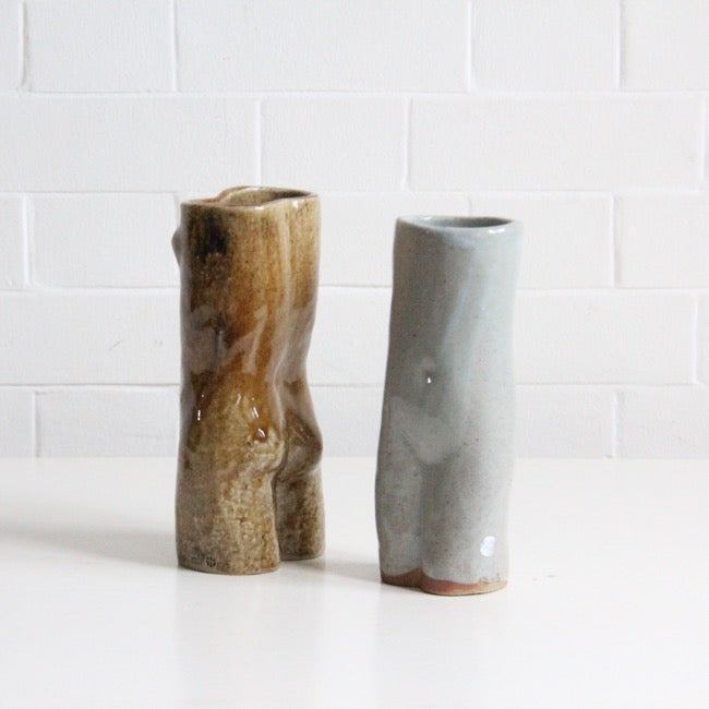 Image of Brown female nude vase by Martin Hammond