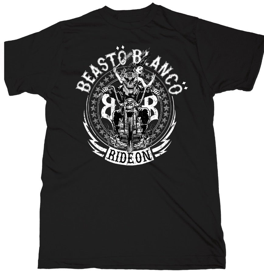 "Image of OFFICIAL - BEASTO BLANCO - ""RIDE ON"" UNISEX BLACK SHIRT"