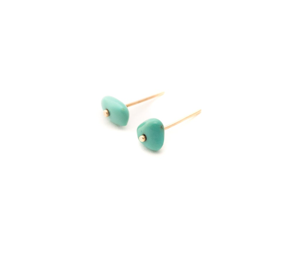 Image of Turquoise Button Studs II