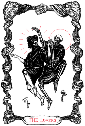 "Image of The Tarot of The Lovers, 11""x17"""