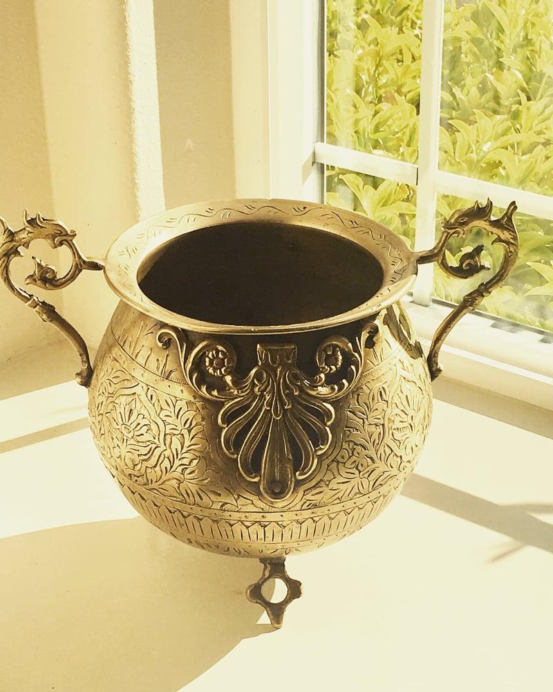 Image of Vintage Brass Urn
