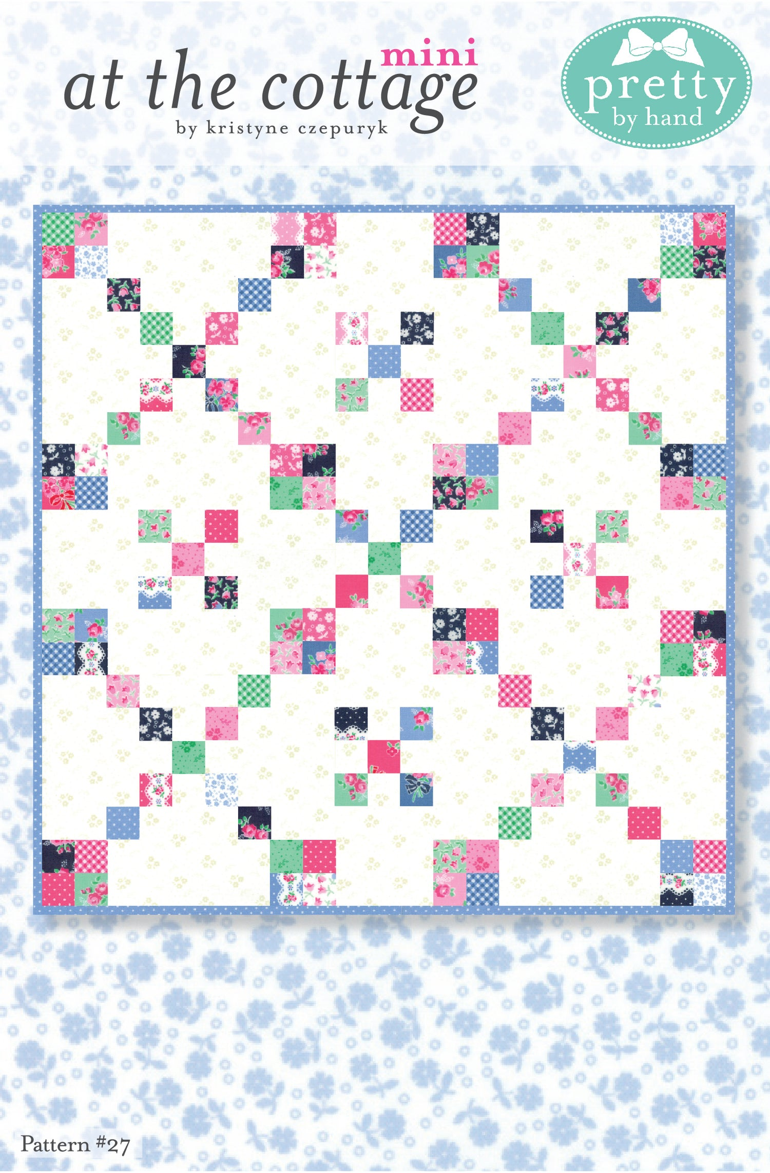 Image of PDF - At the Cottage Mini Quilt Pattern