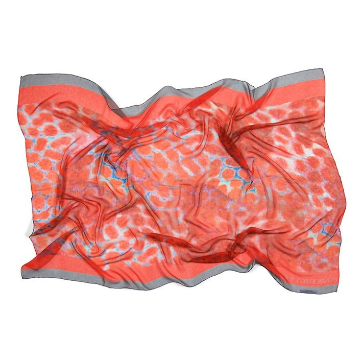 Image of As worn by Tash Oakley  | Red Grouper Silk chiffon sarong