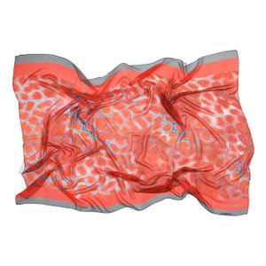 Image of Atoll | Red Grouper Silk chiffon sarong