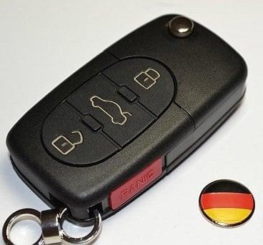 Image of Entire Oval Key FOB Case - Includes free 14mm German Flag Key Emblem fits: Volkswagen Keys