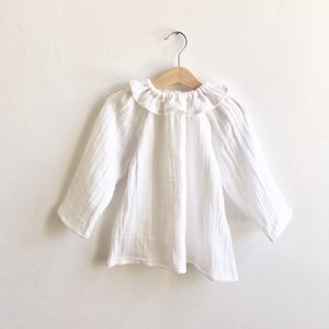 Image of Mavie Blouse white double gauze