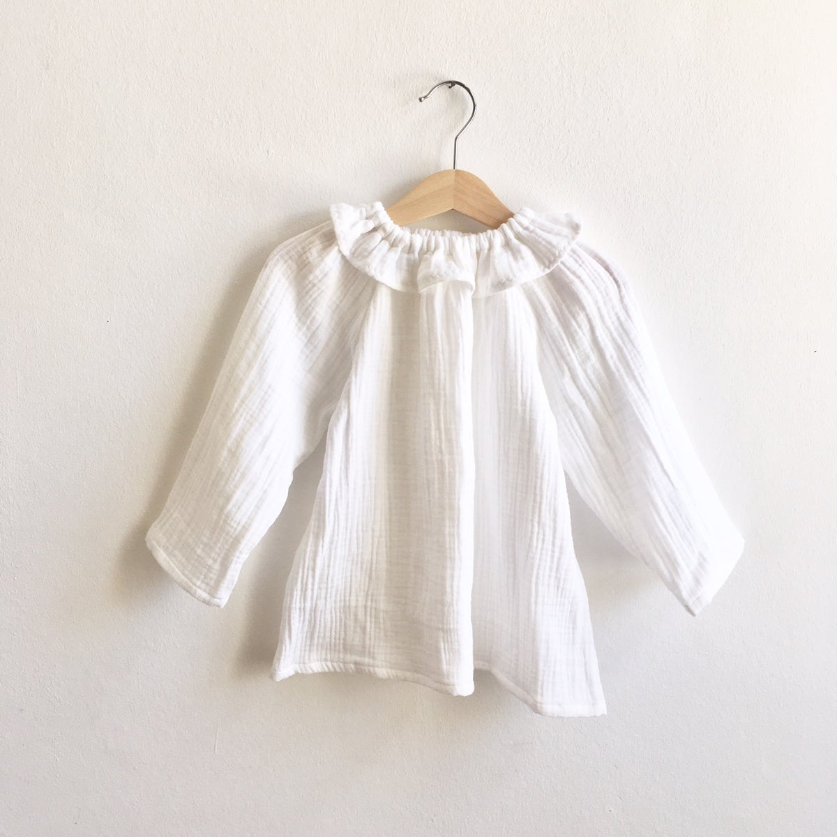Mavie Blouse-white double gauze
