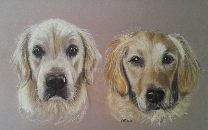 Image of Pet Portrait Commission (Double)
