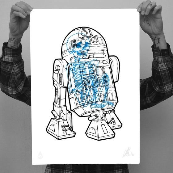 Image of R2D2 Xray V2.0 A2 Screenprint