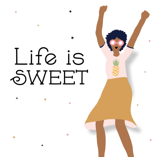 Image of Life is Sweet Notecard