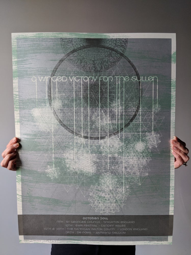 Image of A Winged Victory for the Sullen Euro Tour Poster