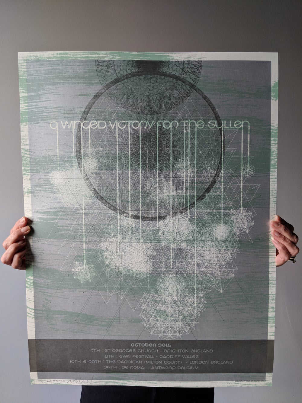 A Winged Victory for the Sullen Euro Tour Poster