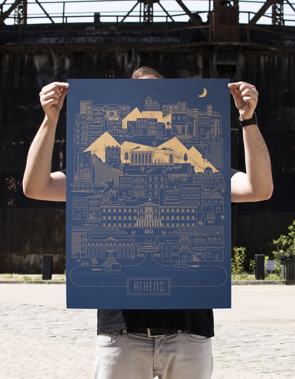 Image of Athens on Ink Metallic